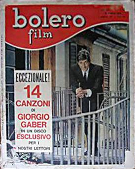 giorgio gaber copertina bolero film