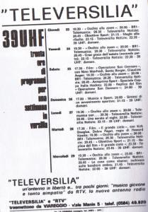 palinsesto TELEVERSILIA UHF 39