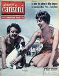 DOMENICO MODUGNO Copertina tv sorrisi e canzoni n.28 1955 domenica modugno franca gandolfi