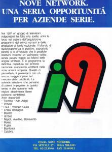 PUBBLICITA' ITALIA 9 NETWORK