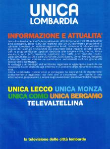 UNICA LOMBARDIA TELEVALTELINA PUBBICITA'
