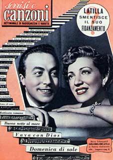 1954 copertina sorrisi n.24 carla boni e gino latilla