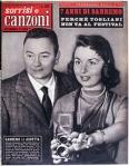 1957 copertina sorrisi n.5 GIORGIO CONSOLINI