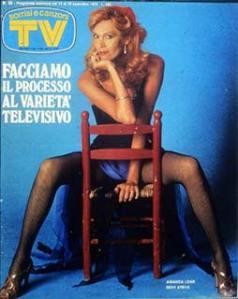 AMANDA LEAR copertina sorrisi 1978 amanda lear