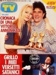 beppe grillo copertina tv sorrisi e canzoni 1989