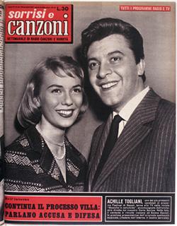 1957 copertina sorrisi n.10 ACHILLE TOGLIANI
