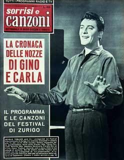 1958 copertina sorrisi achille togliani nozze carla boni e gino latilla