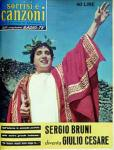 1959 copertina sorrisi n.21 sergio bruni giulio cesare