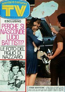 1973 COPERTINA SORRISI LUCIO BATTISTI SI NASCONDE GIANNI NAZZARO 6