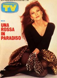 copertina sorrisi 1984 milva