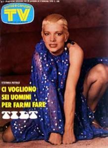 STEFANIA ROTOLO copertina sorrisi 1979 stefania rotolo tilt regia valerio lazarov
